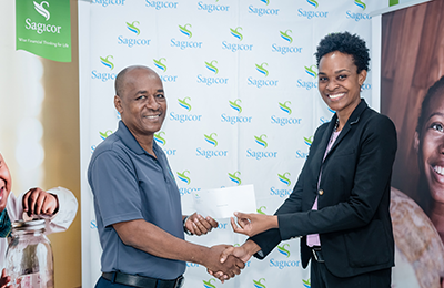 Sagicor donates to SLU cancer society.